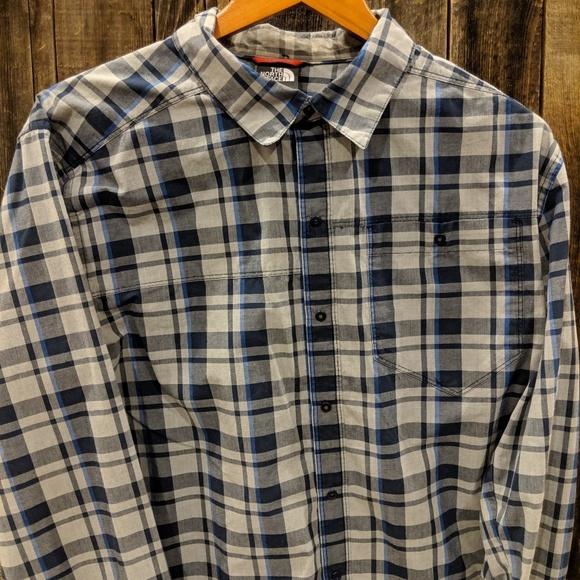 cdffb801d North Face long sleeve shirt snap button down
